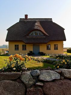 Thatch roof - typical house on the Island of Rügen, Germany. I want to go live in Germany