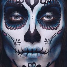 Make up! Omgoddd  this would be awesome for halloween! my hubby wants a tatoo of a sugar skull and loved this one..... ;)