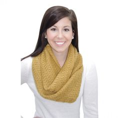 Mustard Knit Infinity Scarf.