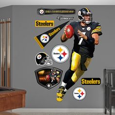 629c45bbc Pittsburgh Steelers Fathead Wall Decals   More
