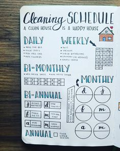 NEW Cleaning Routine Starting a new Bullet Journal in my @scribblesthatmatter A5 means I get to create a new cleaning schedule! I did a hybrid version to only track six months, since that's about how long each journal lasts. As I finish that task, I color in the box. Talk about satisfying AND clean! The year-long version of this is available in my shop in the link in my bio!