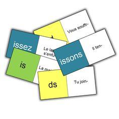 domino des verbes présent de l'indicatif