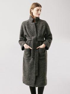 Ganni AW16 Fenn Coat Smoked Pearl