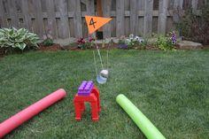 DIY Mini Golf Course - Backyard fun!