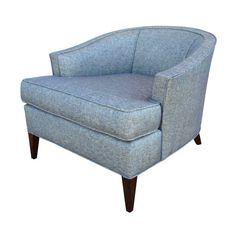 Mid-Century Barrel Back Club Chair on Chairish.com