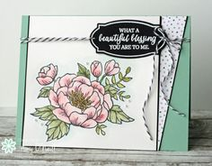 handmade card featuring the Birthday Bloom flowers ... Freshly Made Sketches #231 ... like how the side column makes the focoal point a big square ... Stampin' Up!