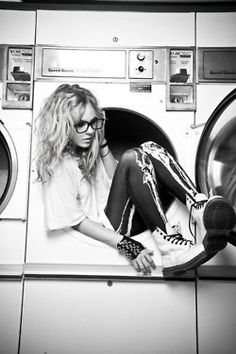 Photography in the laundry room.