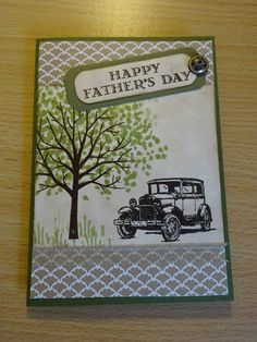 Stampin Up, Guy Greetings and Sheltering Tree
