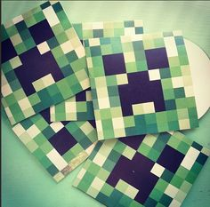 Minecraft party... CREEPERS!!! Make cds of all the MC Parody songs