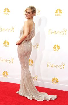 Taylor Schilling in Zuhair Murad at the Emmys.