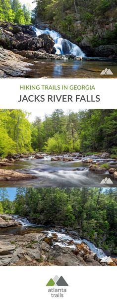 Explore Jacks River Falls, a stunning, roaring, rocky waterfall in Georgia's Cohutta Wilderness, hiking the Beech Bottom Trail & Jacks River Trail. Camping Places, Places To Travel, Places To See, Vacation Trips, Vacation Spots, Day Trips, Vacation Ideas, Waterfalls In Georgia, Hiking In Georgia
