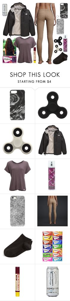 """""""No Title #163"""" by emily102901 ❤ liked on Polyvore featuring Felony Case, The North Face, Vimmia, Nicole Miller, Hollister Co., Wolford and Burt's Bees"""