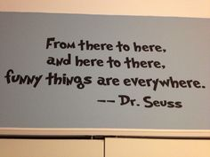 He wanted us to open our eyes and realize that the world truly is a funny place- what DR.SEUSS want us to learn