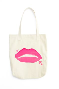 Lips Canvas Tote