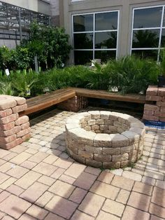 Sitting Area, With A Fire Pit · Outdoor IdeasBackyard ...