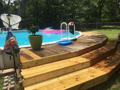 Above Ground Swimming Pools, My Pool, Swimming Pools Backyard, In Ground Pools, Above Ground Pool Landscaping, Backyard Pool Landscaping, Decks Around Pools, Pool Deck Plans, Best Above Ground Pool
