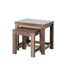 2-Satz Tisch Jungle - Nussbaum