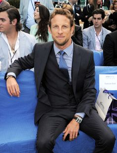 Jenson Button, special guest @AmberLoungeFashion Alain Prost, Jackie Stewart, Grand Prix, Sports Celebrities, Cool Style, Man Style, F1 Drivers, World Championship, Special Guest