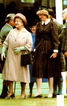 Queen Mum & Princess Diana, September 1982