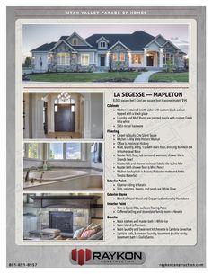 Raykon Construction — Utah County Home Builder Build Your Dream Home, My Dream Home, Utah Home Builders, Taupe Kitchen, Parade Of Homes, Studio City, Interior Design Inspiration, Future House, Specs