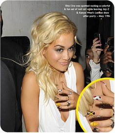 Celebrity Nails: Rita Ora Spotted Rocking Heavy Nail Art from London to Cannes