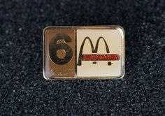 Mcdonald's 6 Years Vintage Enamel Tack Pin by MichaelPMoriarty on Etsy