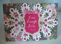 A gorgeous floral card sent in by Ann Marie V and made using @annagriffininc products.