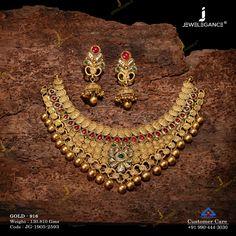 Gold Ring Designs, Gold Jewellery Design, Gold Jewelry, Women Jewelry, Choker Necklace Online, Necklace Set, Gold Necklace, Indian Bridal Jewelry Sets, Wedding Jewelry