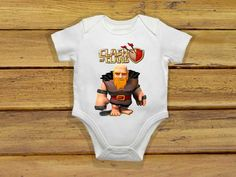 Baby bodysuit Newest clash of clans giant One by theclansstore, $14.00