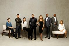 ABC's 'The Catch' stars Elvy Yost as Sophie, Jay Hayden as Danny, Rose Rollins as Valerie, Peter Krause as Benjamin, Mireille Enos as Alice, Jackie Ido as Jules, Alimi Ballard as Reggie and Sonya Walger as Margot.