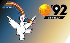 """La Exposición Universal de Sevilla de 1992 se celebró en la capital de Andalucía (España) y fue conocida popularmente como """"Expo'92"""" o """"la Expo"""". Vintage Travel Posters, Frases, Sevilla, Andalusia Spain, Antigua, World's Fair, Olympic Games, Artists, Projects"""