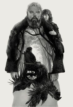 'Game Of Thrones: Hodor' by Greg Ruth Art Game Of Thrones, Hodor Game Of Thrones, A Princess Of Mars, Alex Pardee, Abrams Books, Ace Books, The North Remembers, Pop Culture Art, American Gods