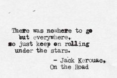 ...keep on rolling under the stars