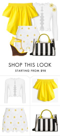 """""""Daisy Fun"""" by feelgood35 ❤ liked on Polyvore featuring Maje, J.Crew, Dolce&Gabbana, Steve Madden, ShoeDazzle and Kate Spade"""