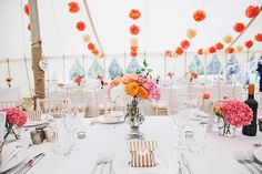 Romantic Secret Garden Coral Pole Tent Wedding http://www.emmacleveley.co.uk/