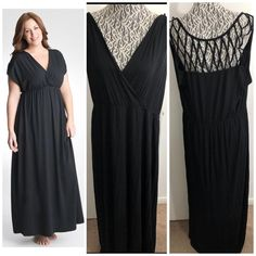 02a3d605d8e Lane Bryant NWT Women s Maxi dress swim cover up Size 18 20 Black Strappy  1009