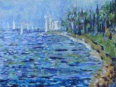Miramare Castle In Trieste: Paintings Post Impressionism Acrylic   Landscape   Livio Lopedote