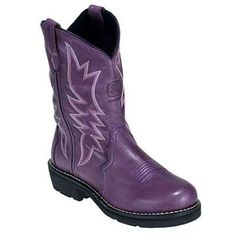 Purple John Deer Cowboy Boots. You just can't make this stuff up. $86.00