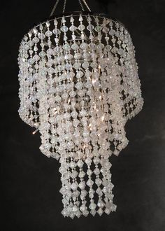 """Battery Operated LED 3 Tier Crystal Chandeliers Light (15"""" long) $49"""