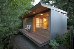Grounded: Best tiny houses not on wheels (photos)   Two generations of architects -- Pietro Belluschi and his son, Anthony, have designed a minimal dwelling in Portland. Anthony Belluschi's 236-square-foot teahouse sits on the one part he could salvage from the original: a corner of the concrete foundation. Photo by Blaine Covert Janet Eastman   The Oregonian OregonLive.com