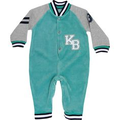 Macacão de Bebê Menino em Plush Verde - Keko :: 764 Kids   Roupa bebê e infantil