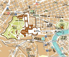 Map of the Vatican and museum entrance on Viale Vaticano
