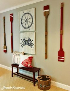 Nautical Wall Decor for a Boys Bedroom.
