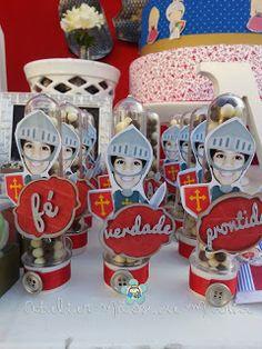 Mãos de Maria: Armadura do cristão - Festa do Mathias Knight Party, Ronald Mcdonald, Birthday, Party Ideas, Character, Knights, Industrial Kids Decor, Jesus Birthday, Armors