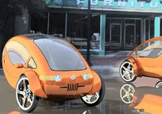 Is This Solar-Powered Half-Electric Bicycle With A Roof The Future Of Transportation? Microcar, Power Bike, Power Cars, Wind Power, Electric Trike, Electric Cars, Solar Car, Reverse Trike, Pedal Cars