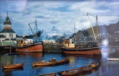 Rothesay's inner harbour in Glasgow, Edinburgh, Isle Of Bute, Lee Van Cleef, Old Boats, Steamers, Boat Building, Belfast, Line Art