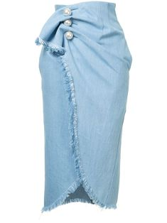 100 Long and Short Denim Skirt Outfits For Girls Womens Fashion Online, Latest Fashion For Women, Blue Jean Dress, Denim Skirt Outfits, Diy Vetement, Trendy Swimwear, Ladies Dress Design, Fashion Outfits, Rock Outfits