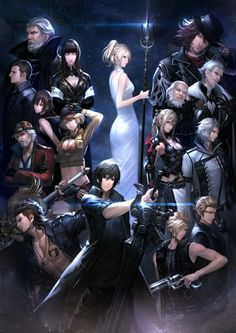 Final Fantasy XV noctis ignis prompto gladio lunafreya and the other character Arte Final Fantasy, Final Fantasy Artwork, Fantasy Series, Fantasy World, Final Fantasy Xv Aranea, Final Fantasy Xv Wallpapers, Noctis And Luna, Manga, Final Fantasy Collection