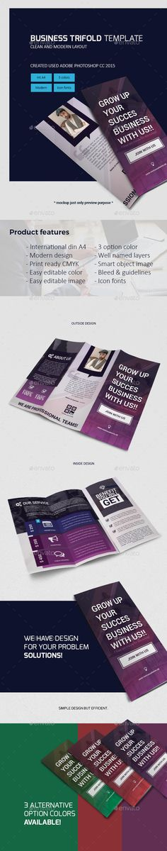 Trifold Brochure Template PSD. Download here: http://graphicriver.net/item/trifold-brochure-template/16292185?ref=ksioks
