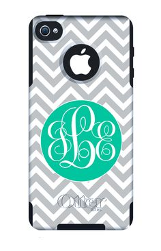 Otterbox Commuter Case Personalized/Monogrammed iPhone 4/5  $58.00, via Etsy.